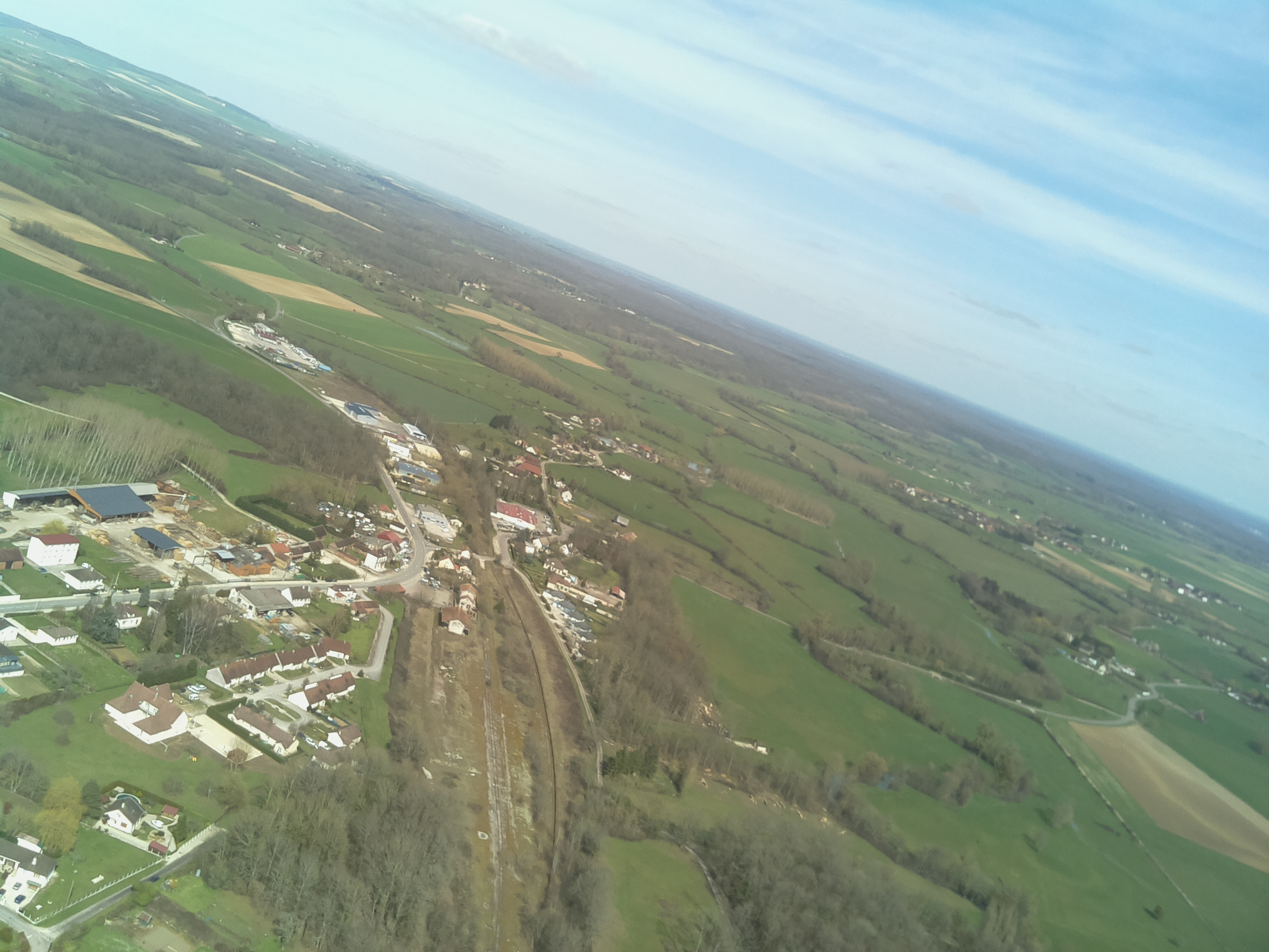 View of roads before landing